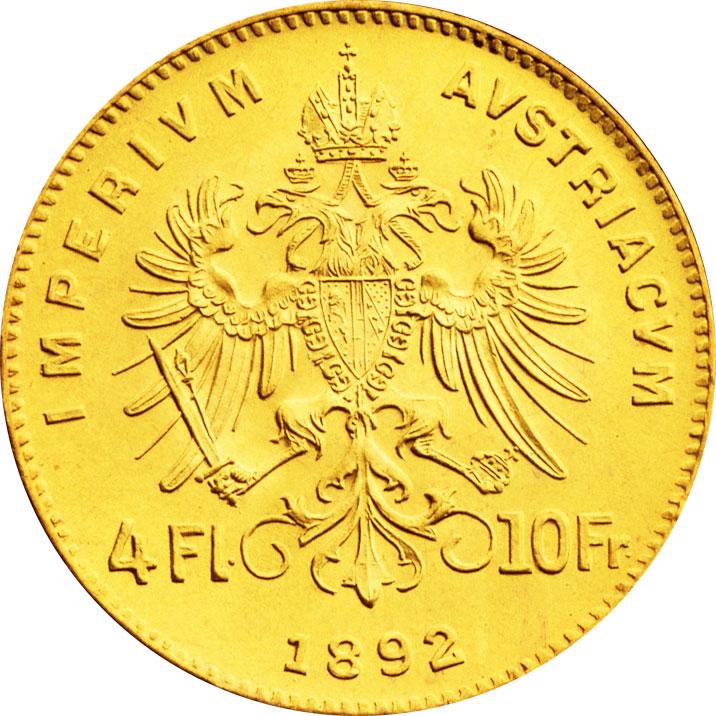 4 florins d'or Autriche revers