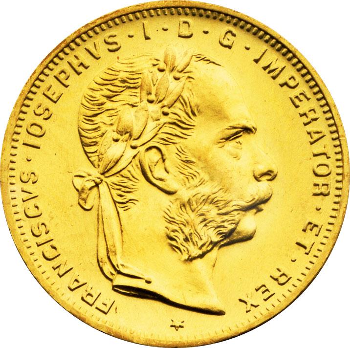 8 florins d'or Autriche avers