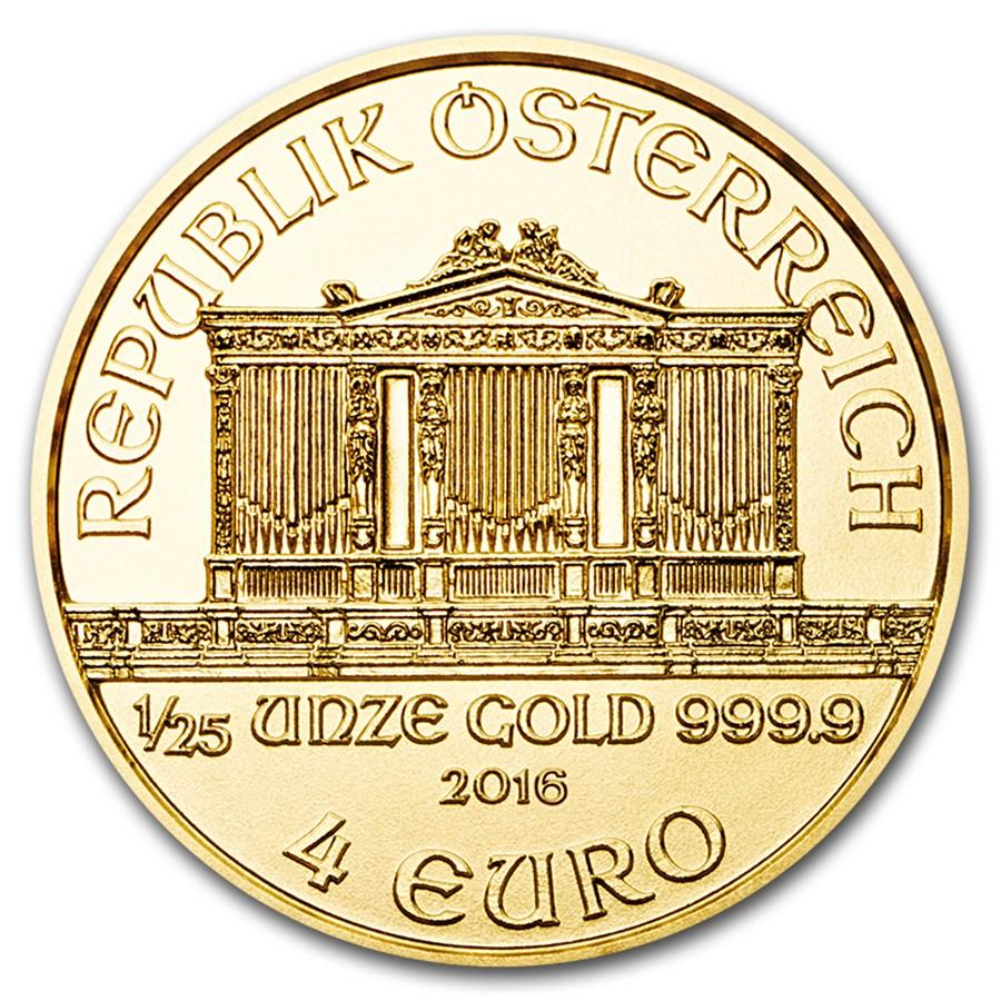 1/25 once d'or Philharmonique de Vienne avers