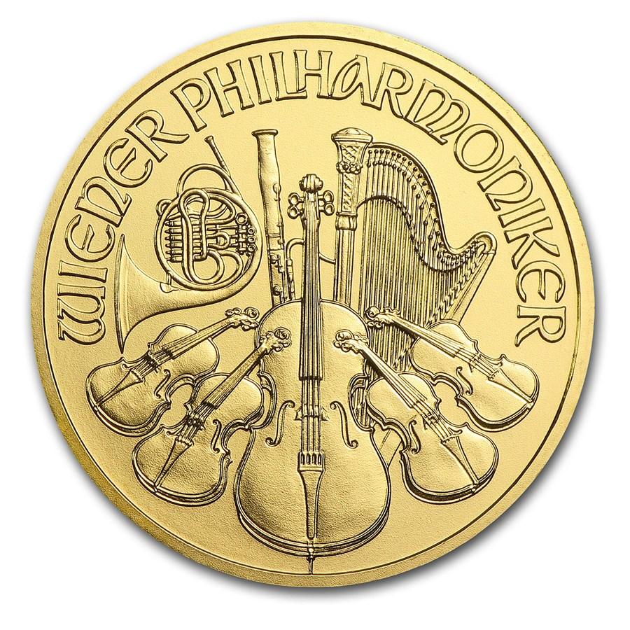 1 once d'or Philharmonique de Vienne revers