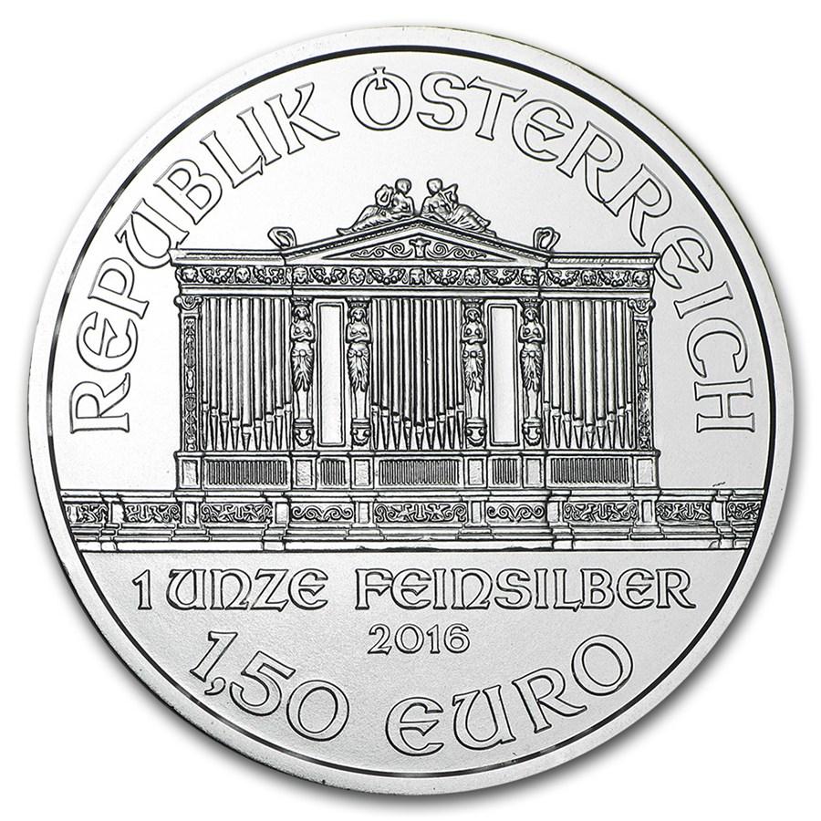 1 once argent Philharmonique de Vienne avers