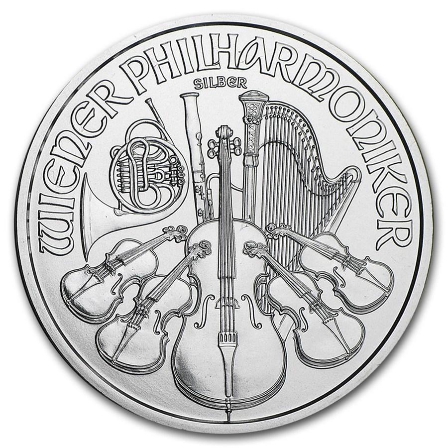 1 once argent Philharmonique de Vienne revers