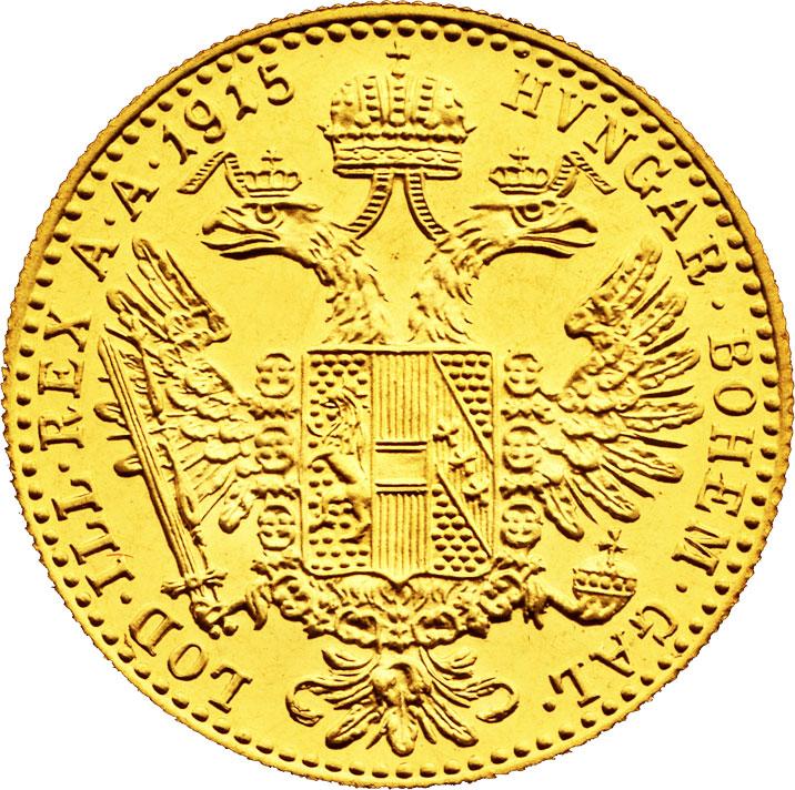1 ducat d'or Autriche revers