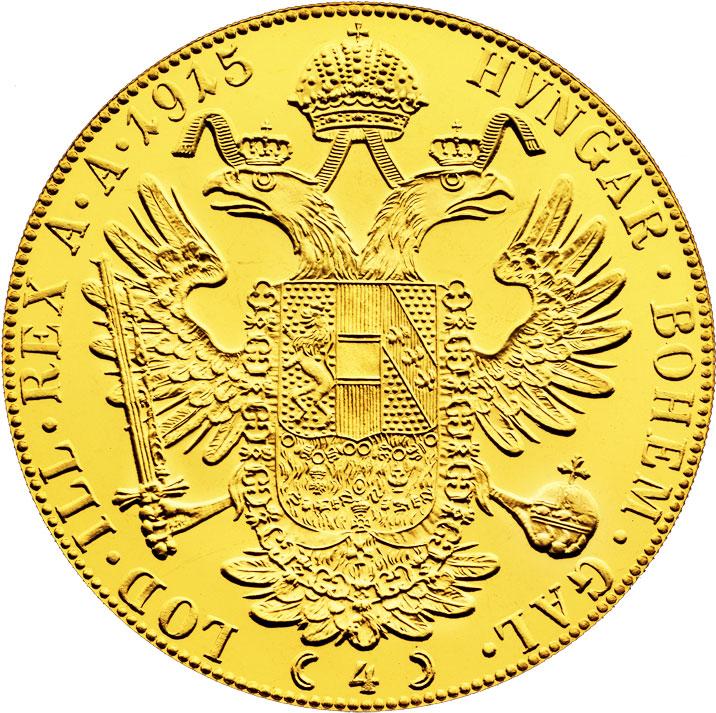 4 ducats d'or Autriche revers