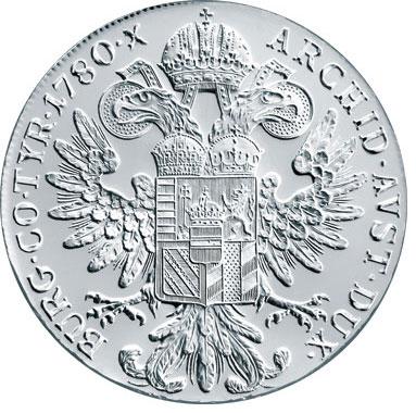 Thaler d'argent Marie Thérèse d'Autriche revers