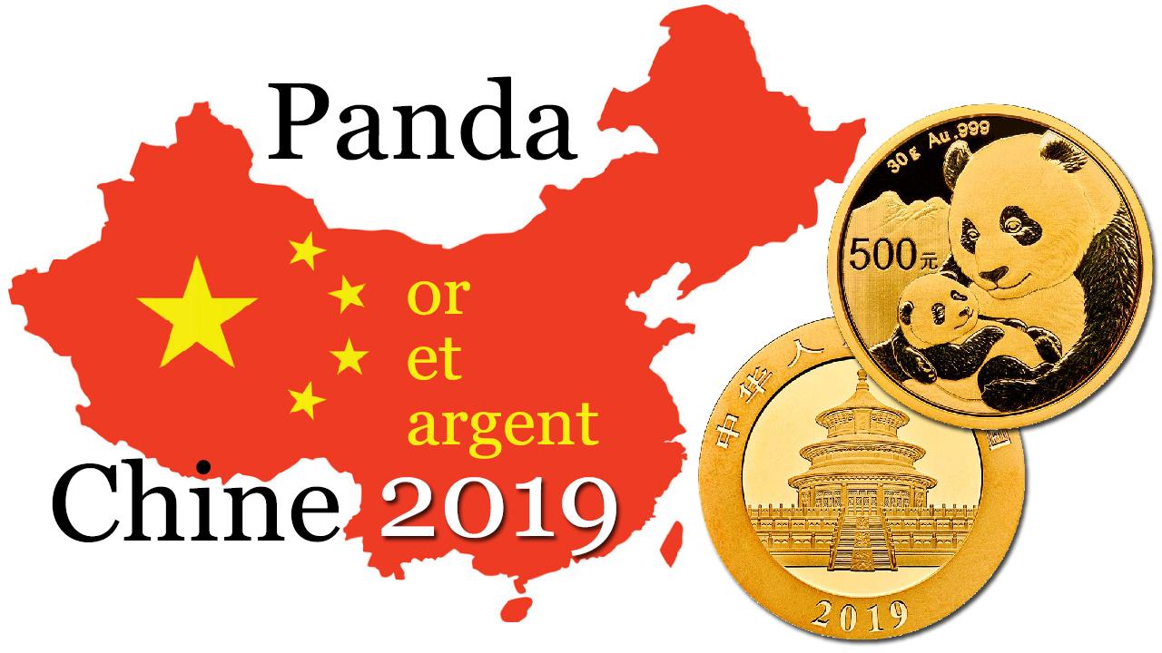 La Banque Centrale de Chine vient de présenter ses nouvelles pièces d'or et d'argent au Panda pour l'année 2019