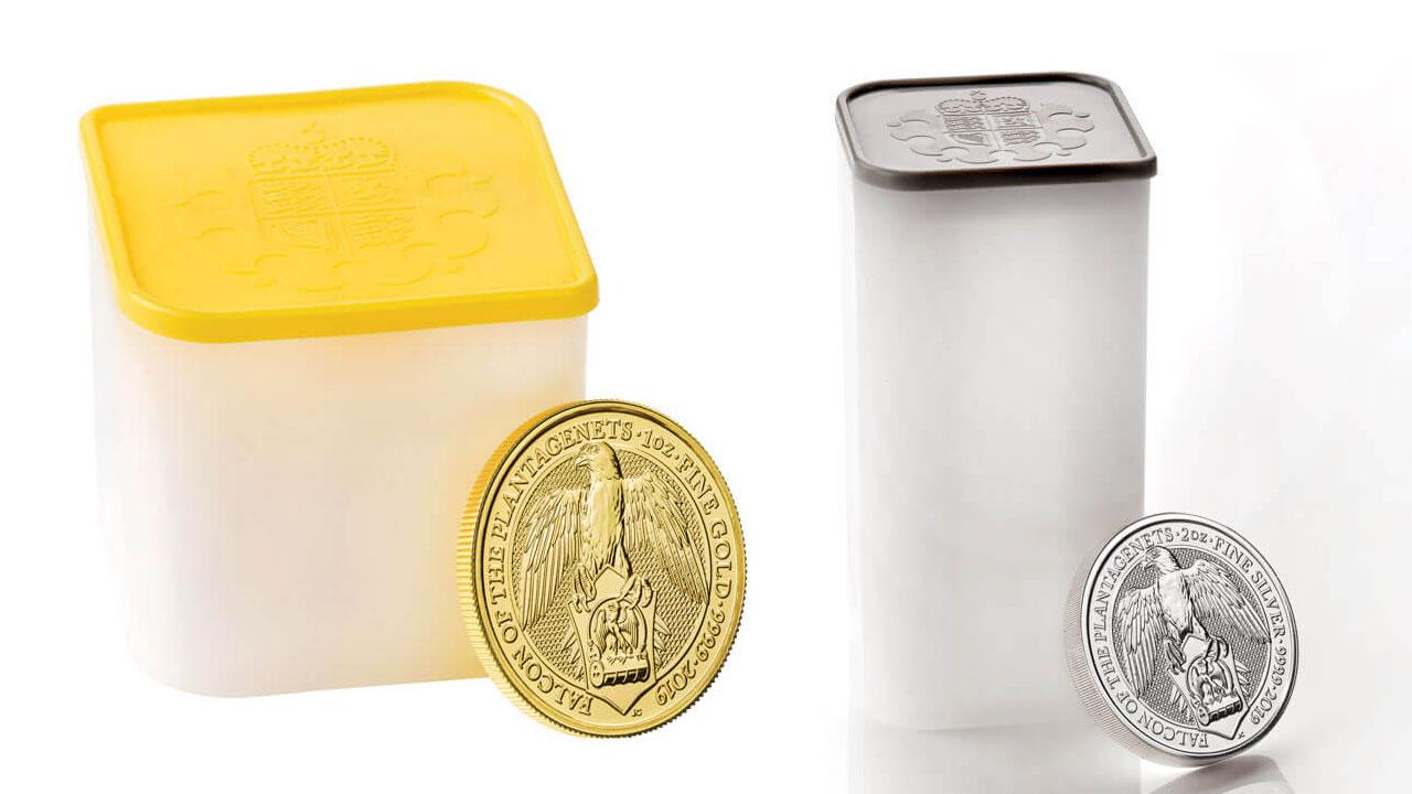 Les pièces, disponibles à l'unité, sont également vendues dans des tubes pour les investisseurs