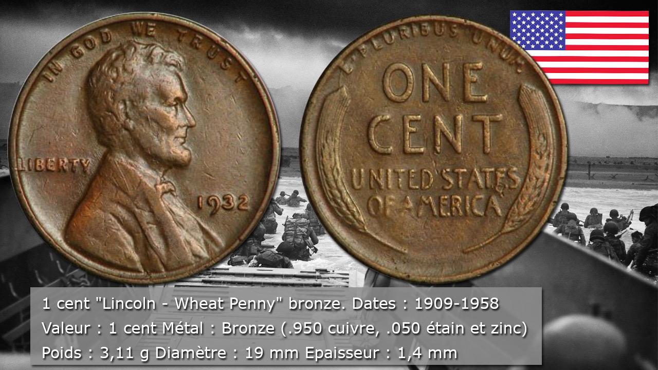 Pièce 1 Cent Lincoln