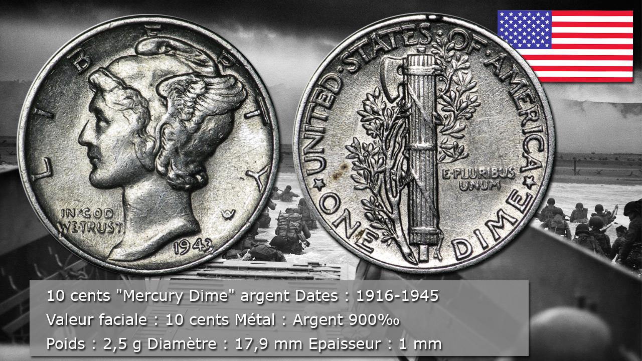 Pièce de 10 cents Mercury Cent