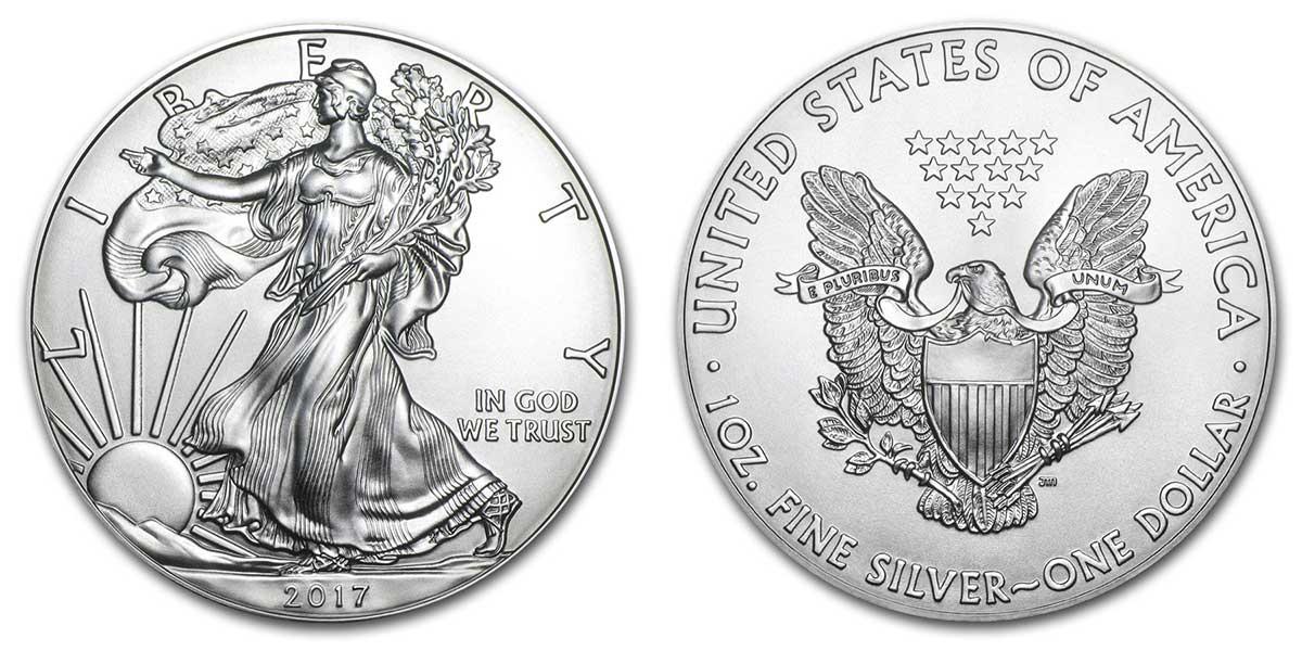 Photo de la pièce américaine d'investissement en argent American Silver Eagle