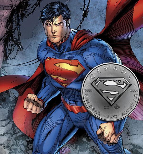 Une nouvelle pièce d'argent d'une once Superman