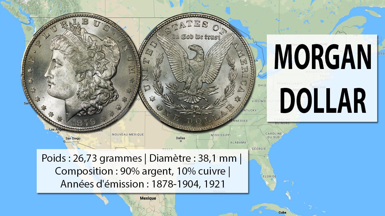 Exemple de pièce d'argent Morgan dollar