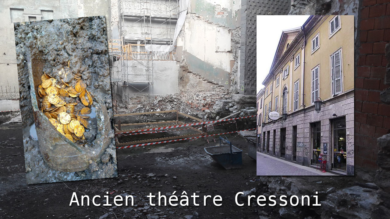 Le trésor a été découvert dans une ancien théâtre lors de fouilles archéologiques