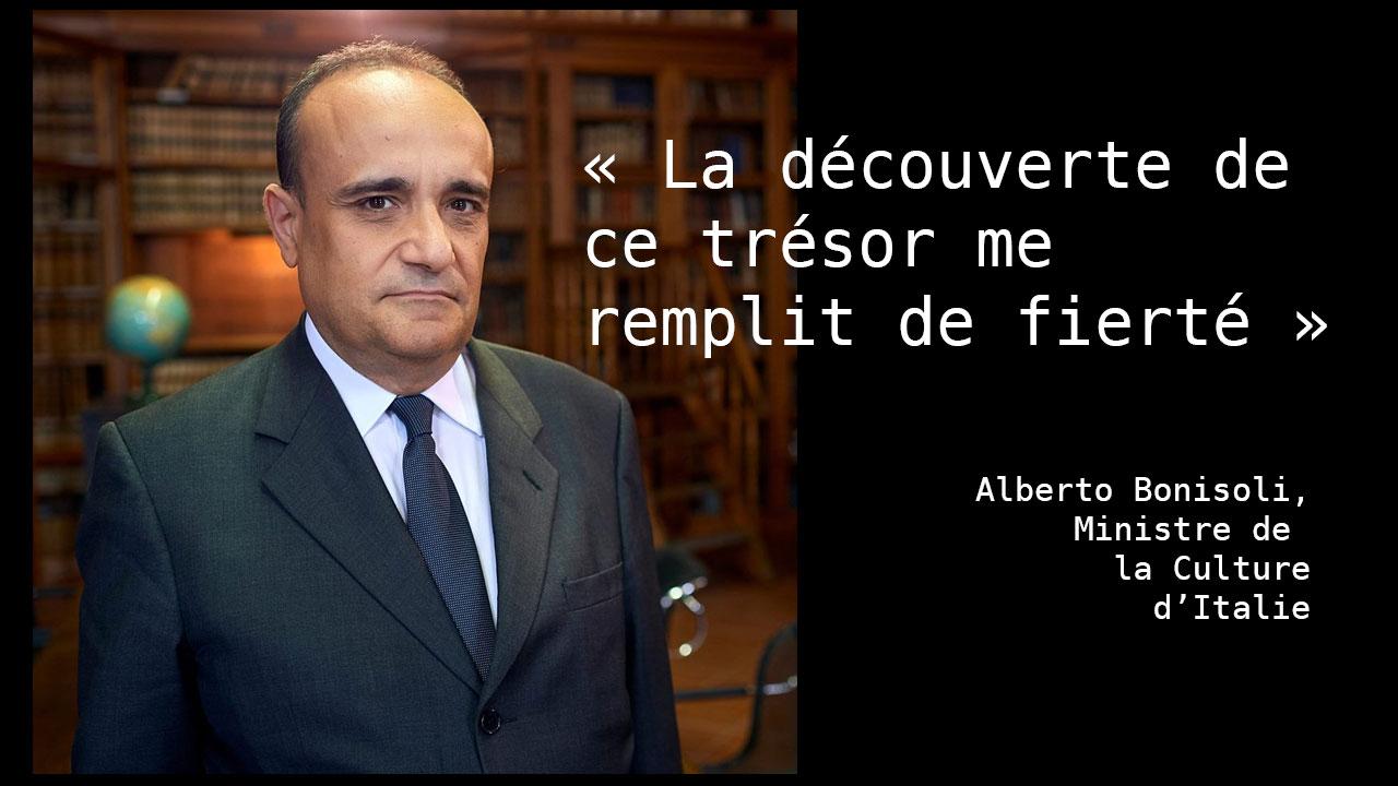 Déclaration du ministre de la culture italien
