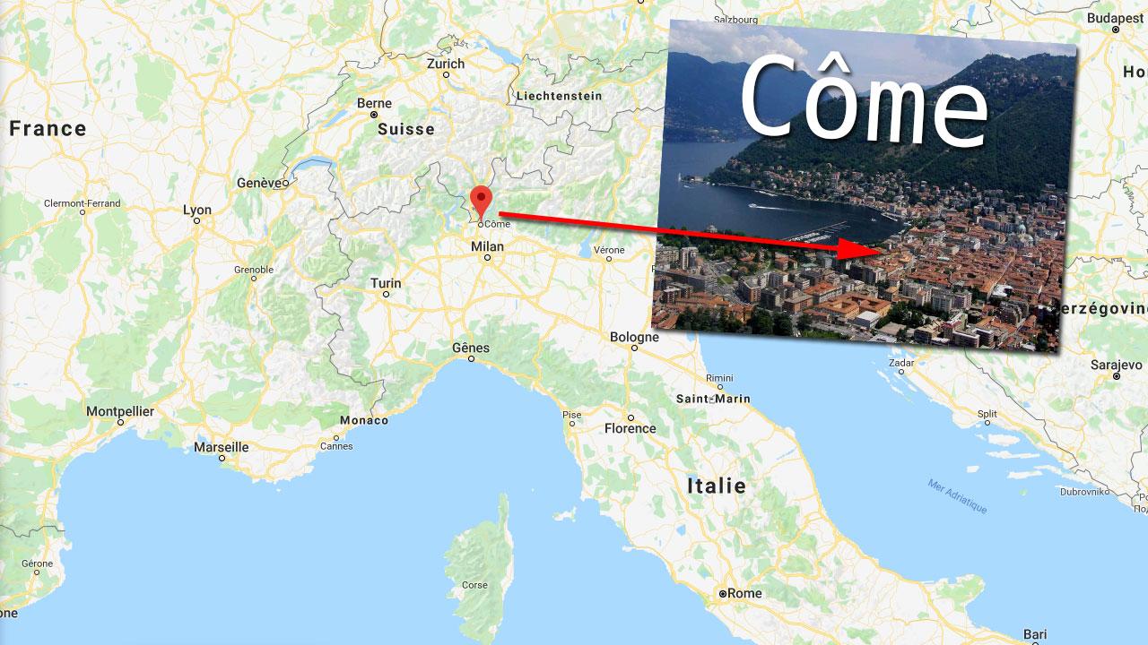 C'est dans la ville de Côme, en Italie du Nord, que le trésor a été découvert