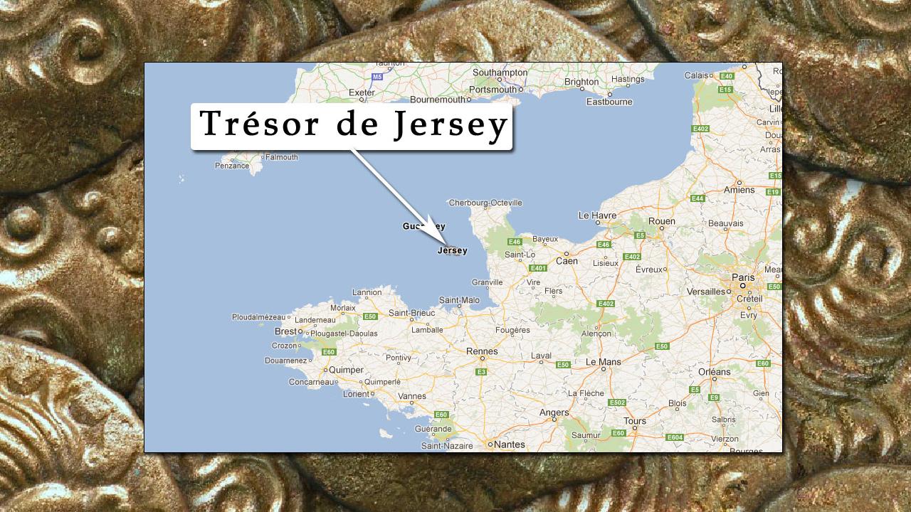 Le trésor a été découvert sur l'île anglo-normande de
