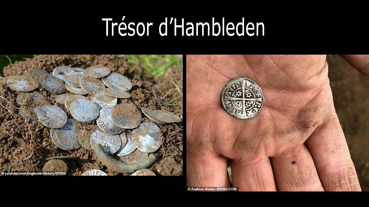 Photos d'une partie des pièces du trésor d'Hambleden