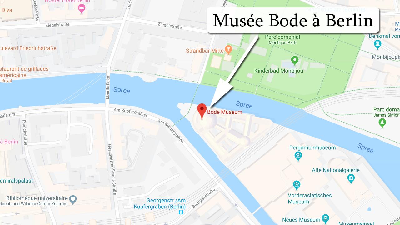 Carte de localisation du Musée Bode à Berlin