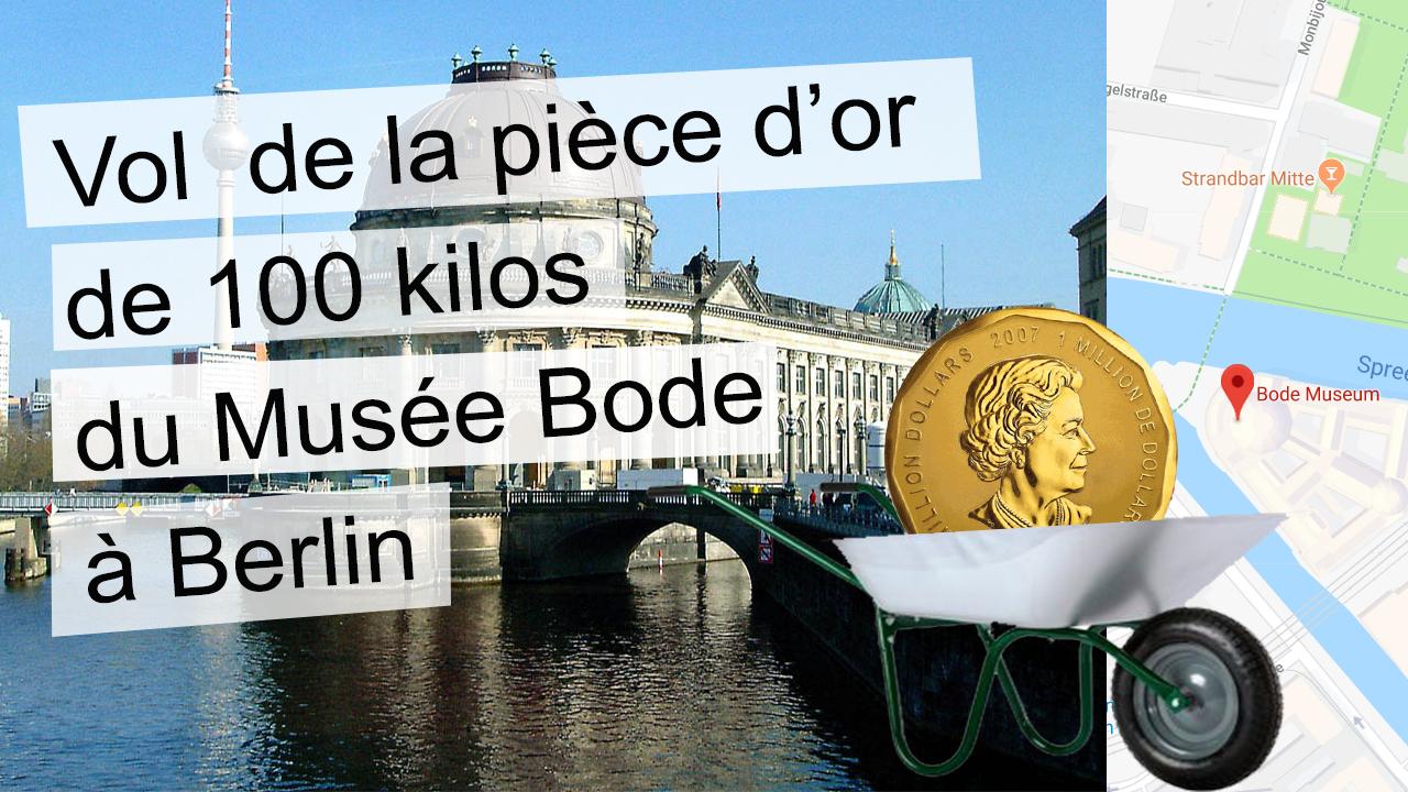 La pièce d'or de 100 kilos avait été volée en mars 2017