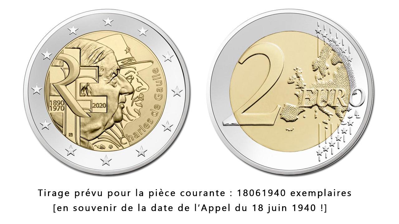 La Nouvelle Pièce de 2 euro Charles de Gaulle 2020