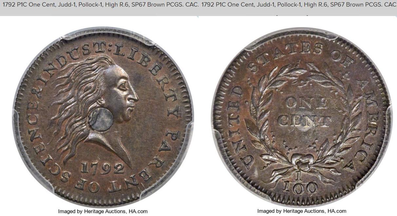n°3 : pièce de 1 cent bimétallique frappée en 1792