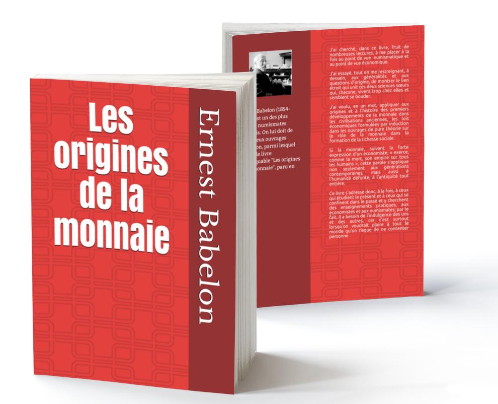 """Couverture du livre """"Les origines de la monnaie"""", d'Ernest Babelon"""