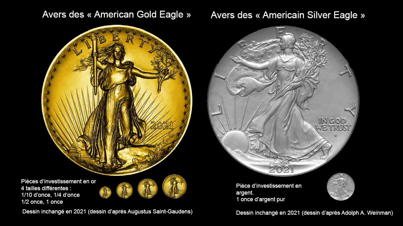 L'avers des pièces American Eagle restera inchangé en 2021