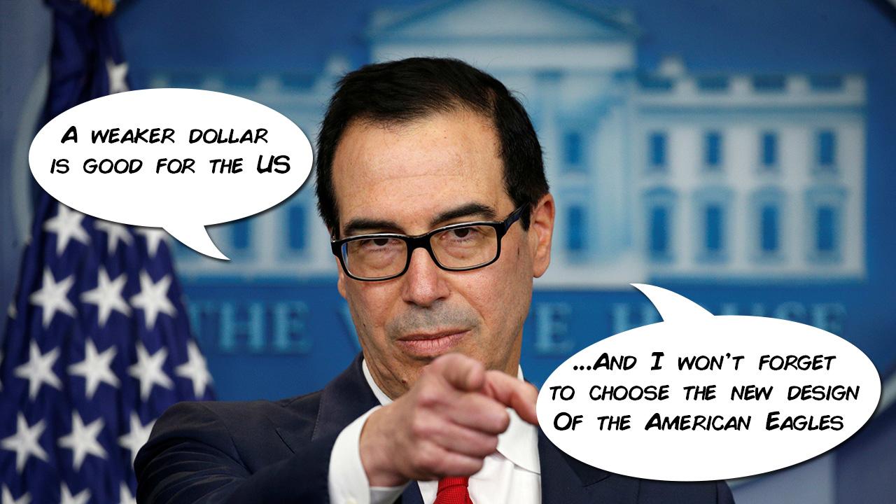 Steve Mnuchin devra choisir le dessin des nouvelles pièces d'or et d'argent American Eagle