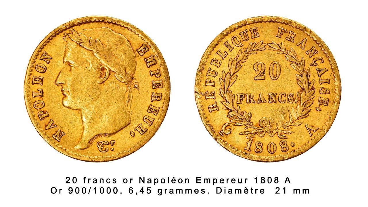 Louis d'Or ou Napoléon à l'effigie de Napoléon Ier