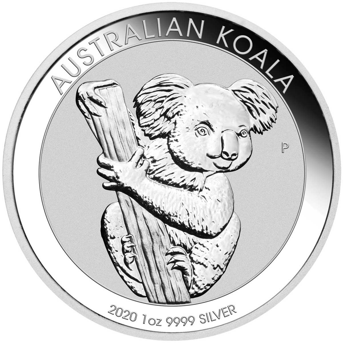 Nouveau dessin des pièces d'argent au Koala d'une once