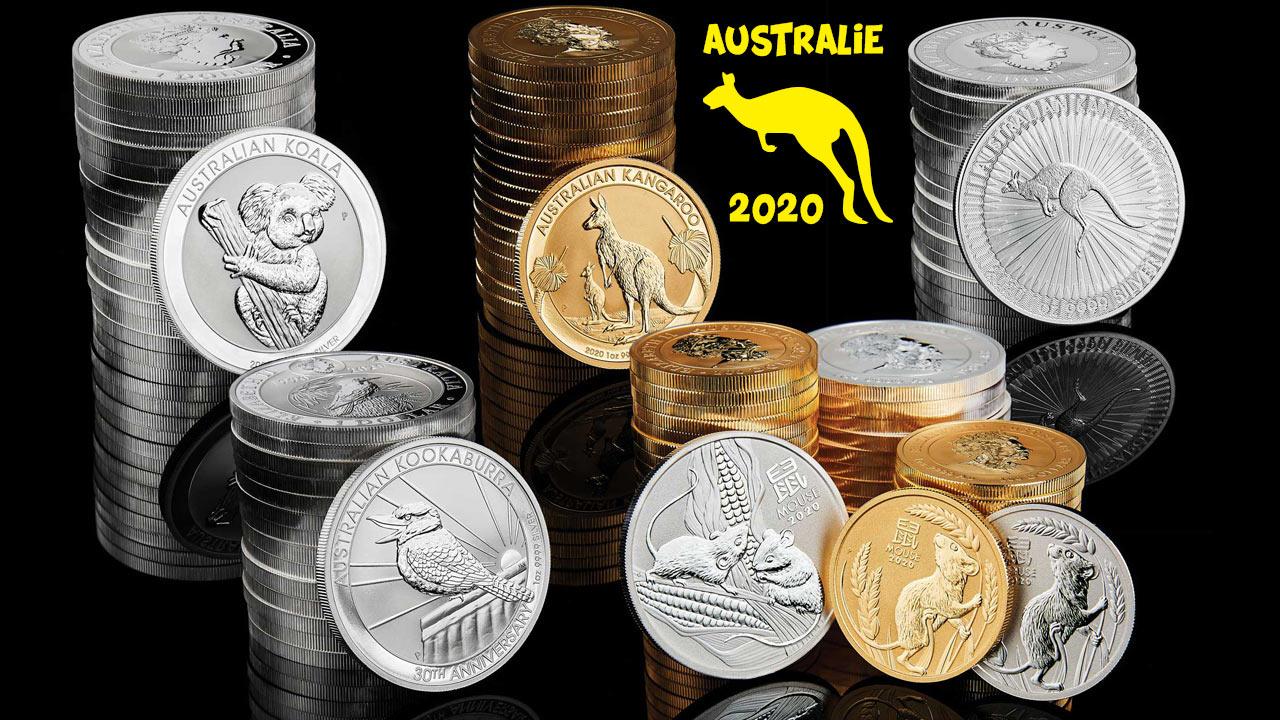Quelques pièces d'or d'Australie...