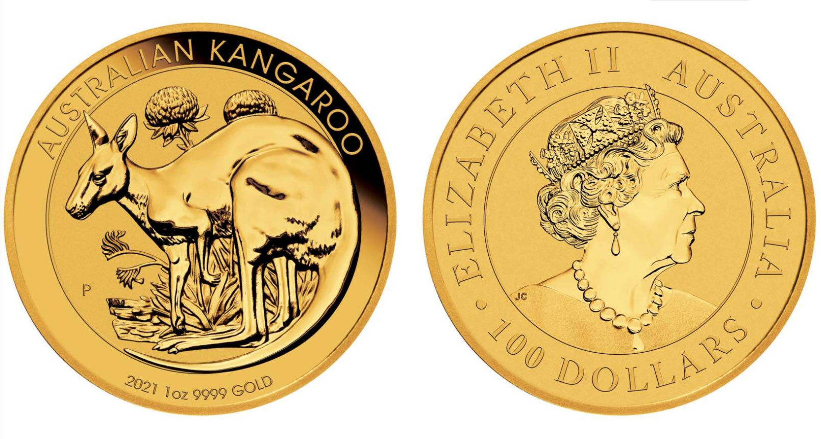 Pièce d'Or d'une once Kangourou Australie 2021