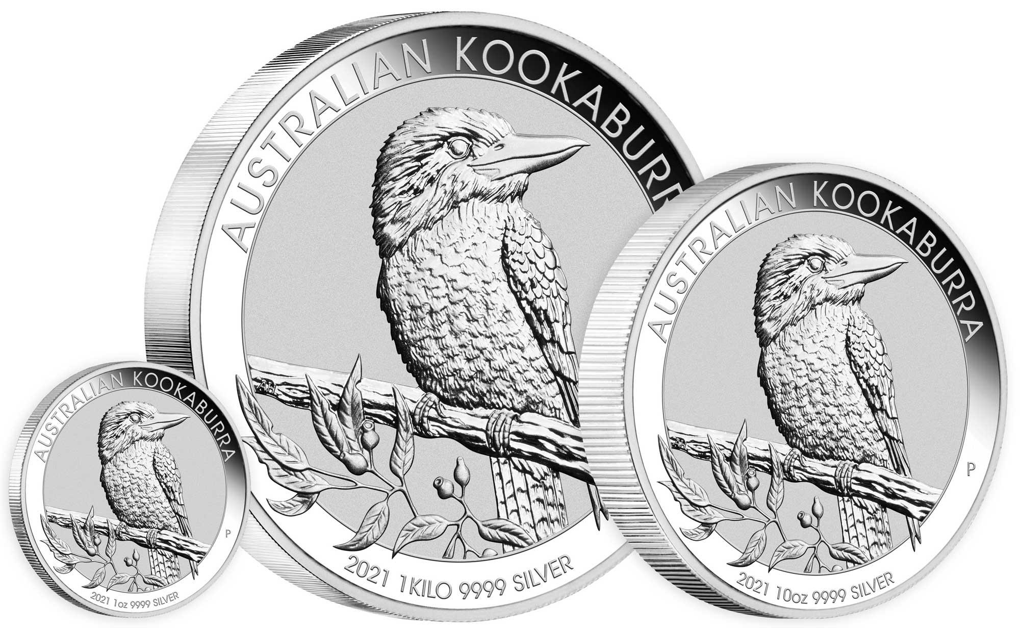 Pièces d'argent Kookaburra 2020 : de l'once au kilo...