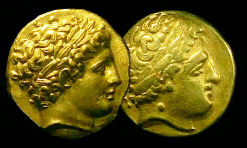 Statère d'or grec et sa copie gauloise