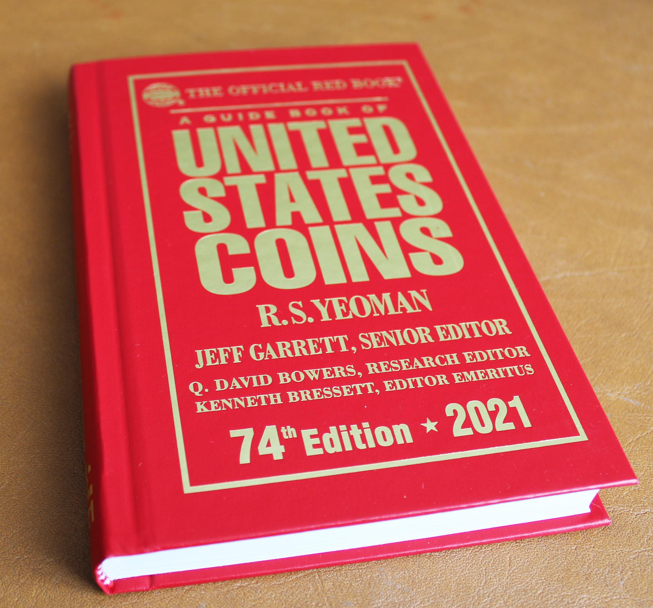 Photo du Red Book, le guide de référence des collectionneurs de pièces américaines