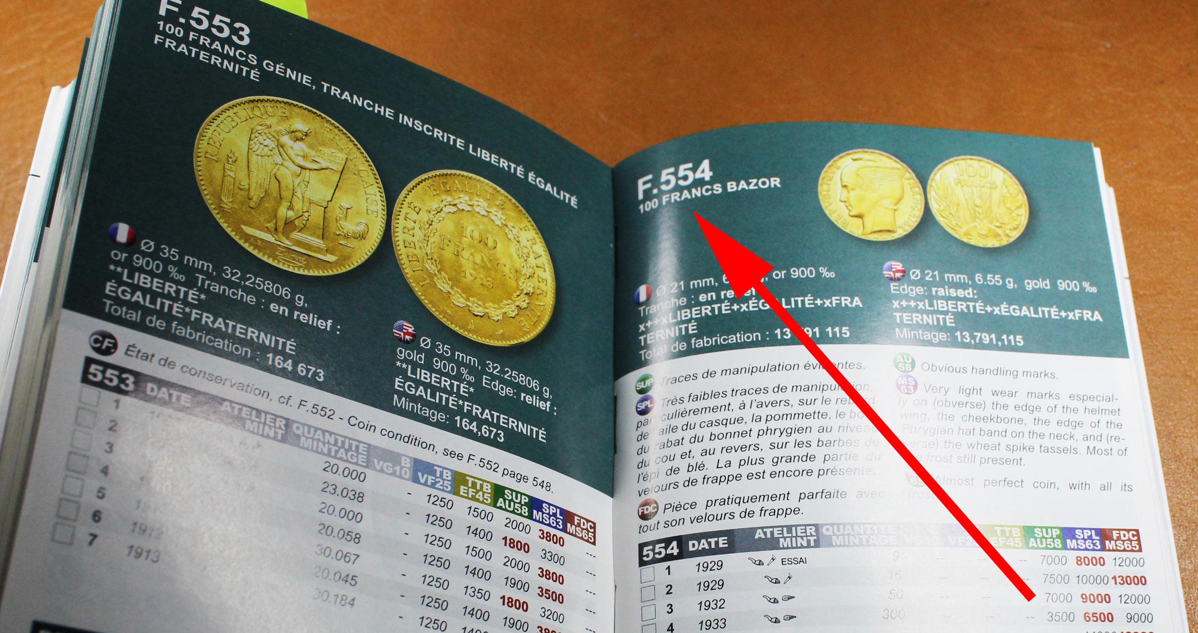 Le Catalogue Le Franc Répertorie pas moins de 554 types de pièces en franc...