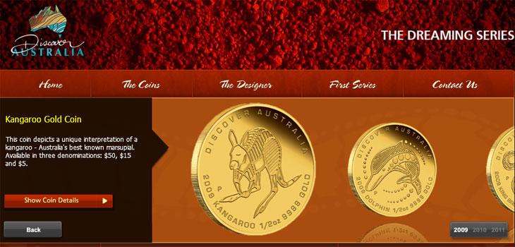 Image du site web consacré aux monnaies des