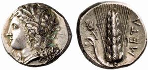 Monnaie Métaponte