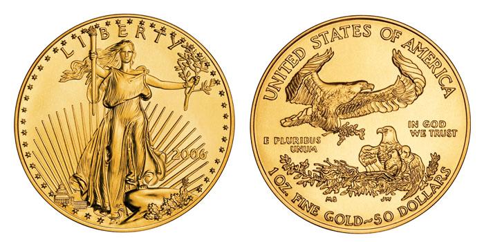 Une des pièces d'or d'investissement les plus célèbres : l'American Gold Eagle